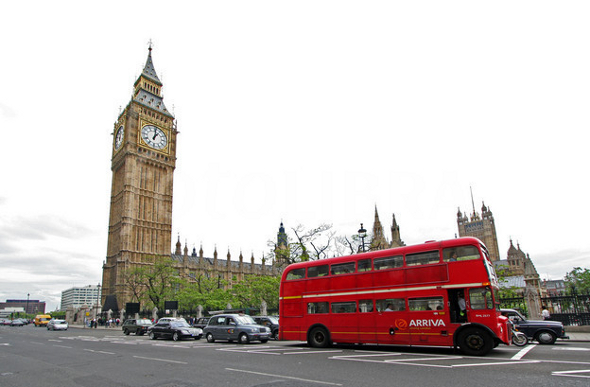 big ben houses of parlement red london bus