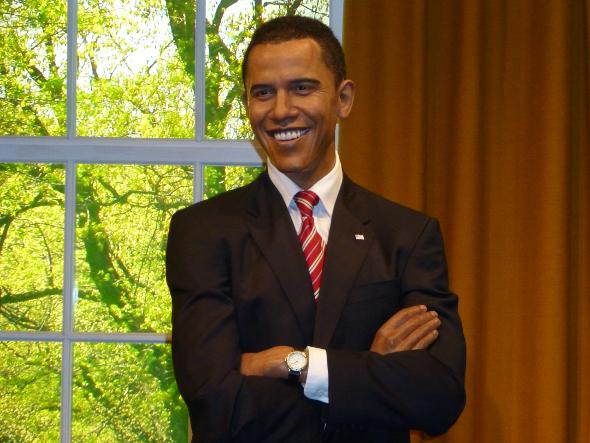 figura woskowa Barack Obama Madame Tussauds w Londynie