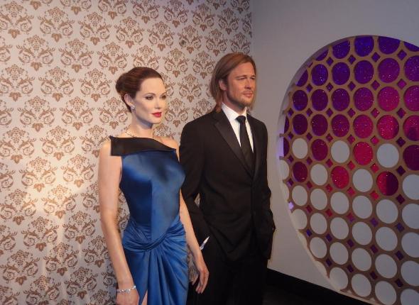 Angelina Jolie i Brad Pitt w Madame Tussauds Londyn
