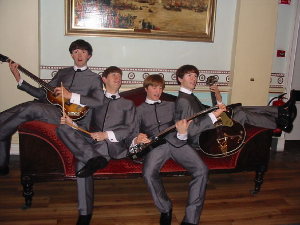 The Beatles w Madame Tussauds w Londynie