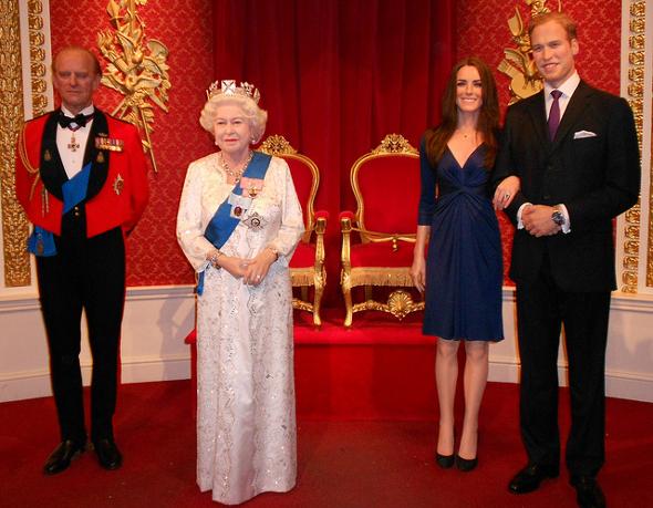 rodzina królewska Madame Tussauds Londyn