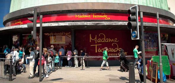 Wejście do muzeum Madame Tussauds w Londynie